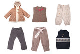 Fototapety Collection of various types of children clothes