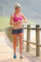 Pretty girl exercising