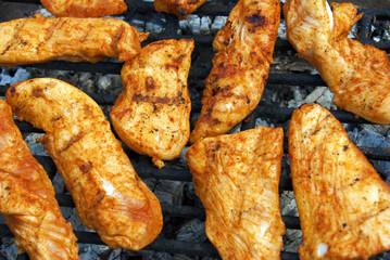 BBQ grill chicken filets
