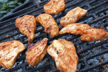 BBQ grill chicken filet