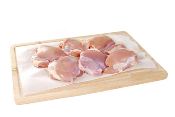 Uncooked chicken thighs