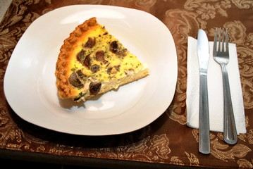 Serving of Mushroom Quiche