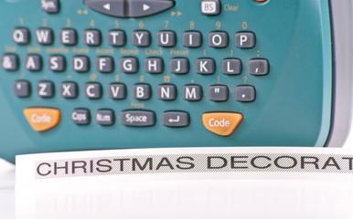 Christmas Decoration Storage Organizational Sticker