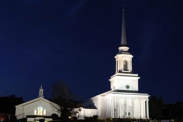 Southern Baptist Church at Night