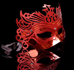 Carnival Mask Isolated on Black