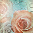 Grunge shabby Roses Background  ( 1 of set)