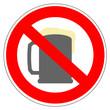 Panneau interdit à l'alcool
