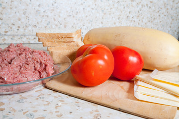 products for stuffed vegetable marrow. Cooking see  in series