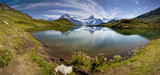 Fototapety Lake with swiss mountain reflection, Switzerland - Grindelwald