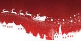 Fototapety Red christmas background.