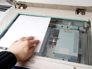 Person operating multi purpose machine