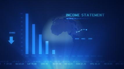 Income statement futuristic projection concept