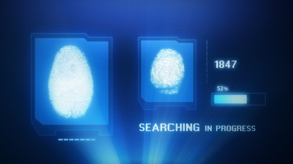 Fingerprint scan projection with access granted