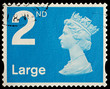 English Second Class Large Letter Postage Stamp, circa 2006