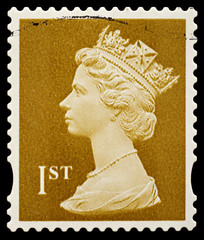 English Used First Class Postage Stamp, circa 1993 to 2005