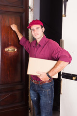 Delivery Boy Knock at the Door