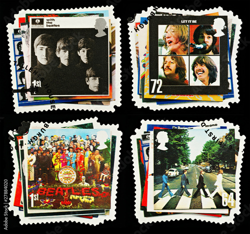 British Postage Stamps Beatles Pop Group, circa 2007