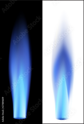 Gas flame. Vector illusration.