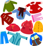 Fototapety Children clothes set