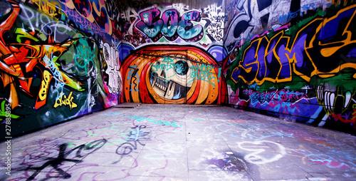 Aluminium Berlijn graffiti