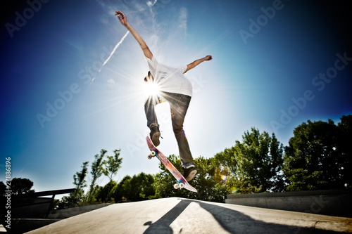 canvas print picture Skateboarder