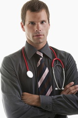 Portrait of a doctor wearing stethoscope