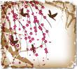 Fototapete Schöner - Vögel - Hintergrund