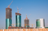 Buildings under construction in Bahrain.