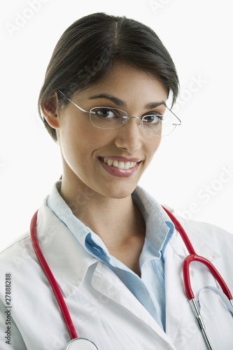 Closeup of woman doctor
