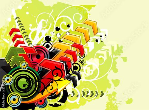 arrows urban vector illustration