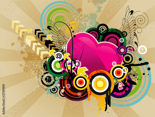 abstract color vector illustratin