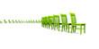 3D Stuhlreihe - Grün 03