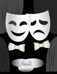 theatre stage & masks