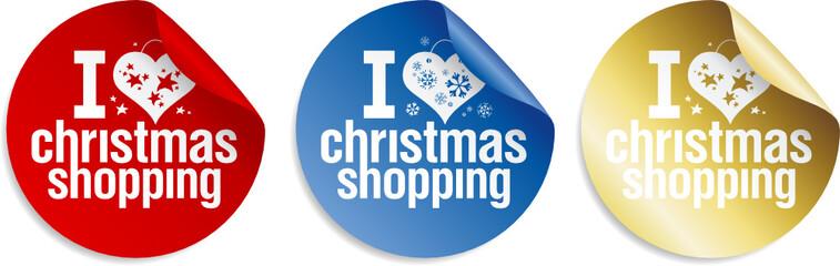 I love Christmas shopping stickers set.