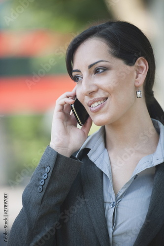 Young woman on smartphone