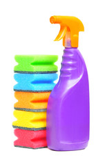 Washing liquid and sponges isolated
