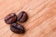 three fried coffee beans