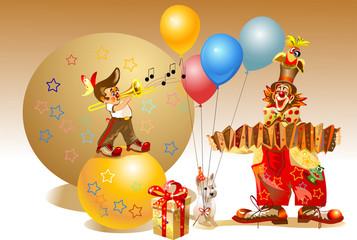 celebratory clowns