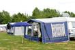 Tents and a caravan