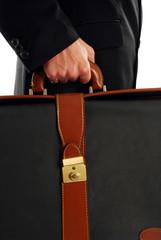 Uomo d'affari con borsa
