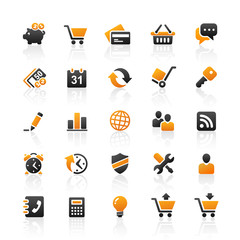Orange Black Web Icons