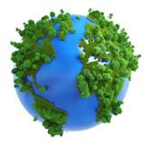 Fototapeta zielony - koncepcja - Drzewo