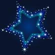 Stern, Sternenhimmel, Weihnachtskarte, Winter, Nacht