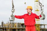 rigger builder while slinging straps poster