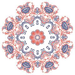 Stencil Mandala Indian Design