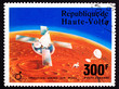 Upper Volta Stamp Viking Space Explorer Ship Lander Mars