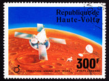 Upper Volta Stamp Viking Space Explorer Ship Lander Mars poster