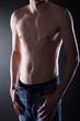 Männer Body mit Unterhose und Jeans