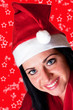 Junge Frau mit Weihnachtsmütze 144sterne