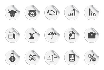 Finance icons | sticky series